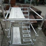 48X3.25 alto andamio de acero galvanizado de acero de Ringlock de la INMERSIÓN caliente del grado Q235 para la venta