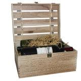 Rectángulo de cigarro de madera rojo de encargo especial