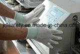 Fibre de carbone et gant de travail de DÉCHARGE ÉLECTROSTATIQUE tricoté par nylon (PC8115)