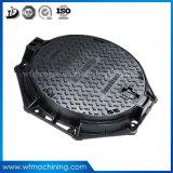 En124 C250 D400 E600 F900の円形の延性がある鋳鉄のマンホールカバー装飾的な鉄の鋳造物の回状のマンホールのための砂型で作るマンホールカバー