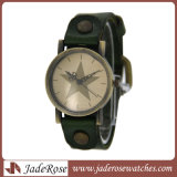 Personality por atacado Alloy Watch com Leather Strap Watch