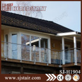 Balaustrada fixada na parede do aço inoxidável do balcão de Foshan com vidro (SJ-H1904)
