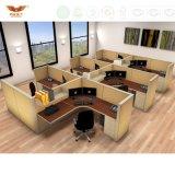 Sitio de trabajo recto moderno con 6 asientos de la persona (HY-29854-2)