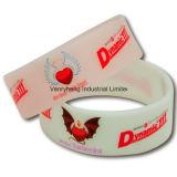 Bracelet fait sur commande de silicium de vente en gros de bracelet de silicium de bande de poignet
