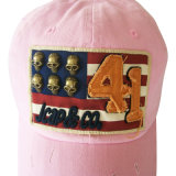 Горячим бейсбольная кепка помытая сбыванием с славным логосом Gjwd1708