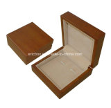 Caja de embalaje de la cartulina de la marca de fábrica Jy-Cub23 del papel de lazo del clip de la mancuerna de Storge de la joyería de cuero de madera del regalo