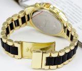 Montre en acier de bande de poignet de chronographe de quartz du Japon de mode (XM9003)