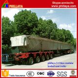 4 + 6 Modular 10lines Heavy Duty Multi-Axes Customized Low Bed Semi Modular Trailer