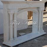Binnen Marmeren Open haard mfp-1018 van Carrara van het Graniet van de Steen Witte