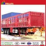 De bétail des animaux de transport remorque en acier en aluminium de cheval de bétail de camion semi