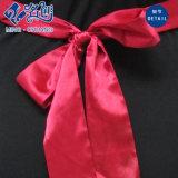 Платье V-Шеи шнурка женщин с полосой шкафута контраста