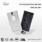 Ce RoHS IP65 5W-100W todo em uma luz de rua solar do diodo emissor de luz do sensor para a estrada, jardim, área pública