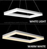 Rechteckige moderne hängende Lampe, LED-dekoratives hängendes Licht