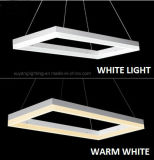 Lámpara pendiente moderna rectangular, luz pendiente decorativa del LED