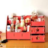 Doos van de Stijl DIY van de fabriek de Hete super-Grote Kosmetische, de Houten Doos van de Opslag van de Desktop