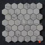 Mosaicos de mármol blancos para la decoración de interior de la pared y del suelo