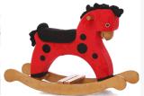 Balanço Cavalo-Vermelho com PONTO preto