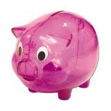 Rectángulo de dinero plástico del ahorro del diseño del cerdo para la promoción