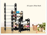 10の層の棚の販売の30のペアの靴のためのすばらしいプラスチック靴ラック/Organizer/Stand