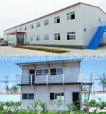 Armazém estrutural de aço pré-fabricado vertido com preço agradável