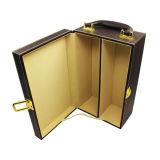 Оптовая коробка подарка вина PU кожаный на Дни отца