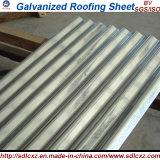 Folha de metal ondulada galvanizada da telhadura da chapa de aço de carbono