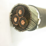 8.7/15 Kv Copper Conductor XLPE Insulated Armored PVC Sheathed Power Cable 3X185mm2
