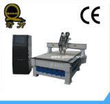 Publicidad de la máquina de grabado plástica del CNC del metal de piedra de madera de Producting
