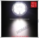 Luz del coche del LED 3 de la luz del trabajo de la pulgada 27W LED para la luz campo a través de la luz del coche LED de SUV y de conducción del LED