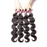 Уток человеческих волос объемной волны девственницы свободно образца бразильский