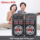 12 Zoll DoppelSubwoofer aktiver Laufkatze-Lautsprecher für Karaoke