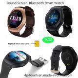 完全な円形スクリーンのSIMのカードスロット(KS2)が付いているスマートな腕時計の電話