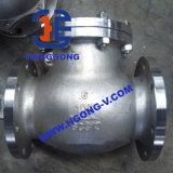 Válvula de verificação da flange do aço inoxidável do balanço da mola de DIN/ANSI/JIS