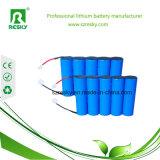 paquete de la batería de litio de 18.5V 2600mAh para el barrendero