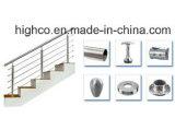 Montaje de la base del acero inoxidable para la barandilla y la barandilla del pasamano