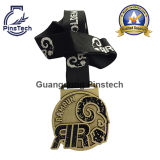 Fabrik Direct Supply, Custom Enamel Medals mit Wärme-Transfer Ribbon