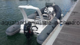 Aqualand 18feet 5.4m Rib Motor BoatかRigid Inflatable Fishing Boat (RIB540B)