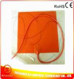 calefator da almofada do silicone do calefator da impressora 3D de 12V 300*300*1.5mm com termistor