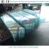 シャワー室のための12mmのシルクスクリーンの印刷の緩和されたガラス