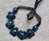 Halsband van uitstekende kwaliteit van de Nauwsluitende halsketting van de Namaakbijouterie van het Kristal van de Luxe de Ruige (JE0159)