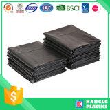 Bolso de basura plástico negro resistente de la venta caliente