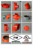 UL Approved Grooved Elbow de FM avec Standard Radius