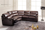 現代角の革ソファーベッド