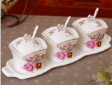 Bello vaso di ceramica della spezia della porcellana del vaso per la cucina