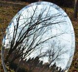 Personalizzato intorno allo specchio d'argento con i bordi Polished