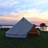 Esterni di lusso impermeabilizzano la tenda di Bell della tela di canapa di 5m con un foro della stufa