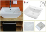 New Cupc Rectangular Bathroom Countertop Ceramic Wash Basins (SN139-053)