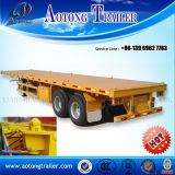 40ft Tri Axle Flatbed Semi Trailer für Container Transportation