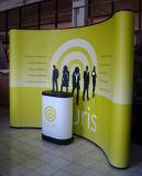 Exhibition Messe Pop Up Display Stand gebogene Form