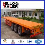 Della Cina dell'Tri-Asse 20FT 40FT di contenitore di trasporto della base rimorchio semi
